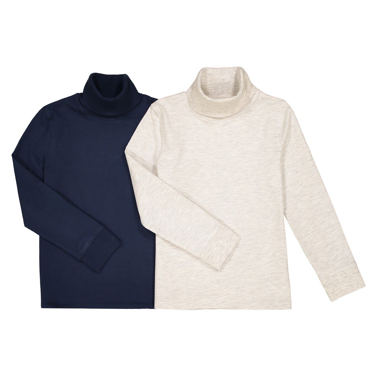 3-12 Years La Redoute Collections Big Boys Pack of 2 Cotton Roll Neck Shirts