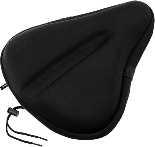 Zacro Gel Bike Seat, Big Size Soft Wide Excercise Bicycle Cushion
