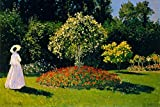 Claude Monet Woman in The Garden Poster 18x12 inch