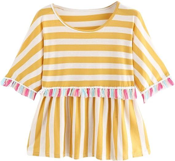 Ronamick Camisetas Vogue Mujer Comfortable Blusa Terciopelo Mujer Tops Mujer Deporte Comfortable Camisa Dorada Mujer (Amarillo,L): Amazon.es: Hogar