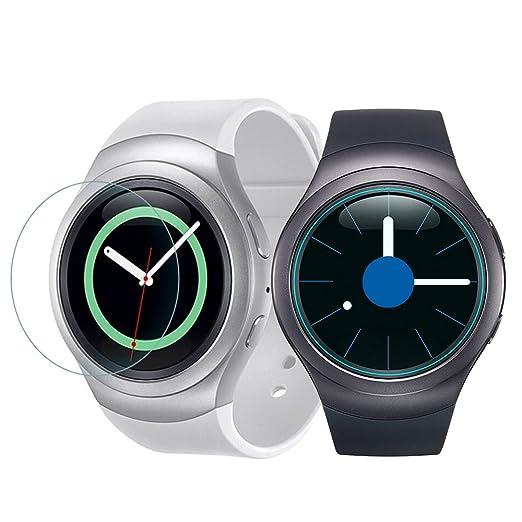 Para Samsung Gear S2 Protector de Pantalla, Ultra Delgado HD Clear Ballistic Gear S2/Gear S2 Classic/S2 3G Protector de Pantalla de Vidrio Temperado, ...