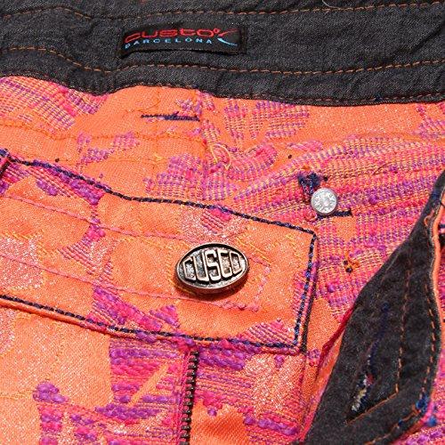 pantalone Arancione woman orange donna pant BARCELONA 8412U CUSTO trouser a6Wwx