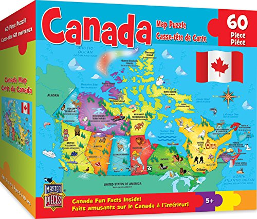 (MasterPieces Explorer Kids -  Canadian Map - 60 Piece Kids Puzzle)
