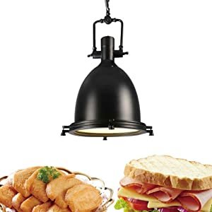 Nordic Single Head Heat Lamp Food Warmer, Buffet Heating Light for Keep Food Warm Hotel Restaurants University Canteen 250W Heating Bulb Hanging Chandelier Telescopic YZPDD
