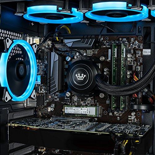 CUK Stratos VR Ready Gamer PC (Liquid Cooled Intel i9-9900K, 32GB RAM, 500GB NVMe SSD + 2TB HDD, NVIDIA GeForce RTX 2080 8GB, 600W Gold PSU, Windows 10) Gaming Desktop Computer with 7 RGB Lotus Fans
