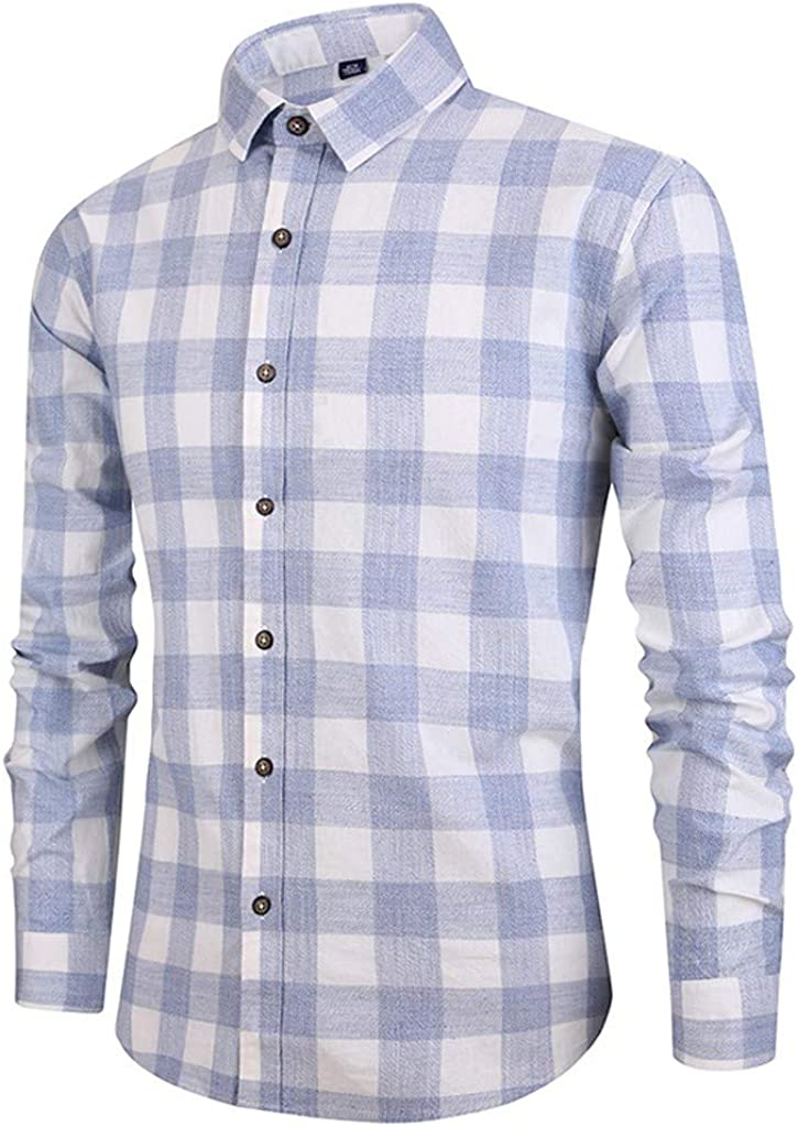 Misaky Mens Dress Shirt Fashion Casual Pattern Print Buttons Long Sleeve Turn Down Collar Shirts for Men Tops