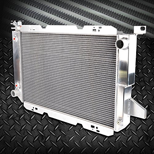 (2-ROW Full Aluminum Racing Radiator Stop Leak For 1985-1996 FORD F-150/F-250/F150/F SUPER DUTY V8 Silver)
