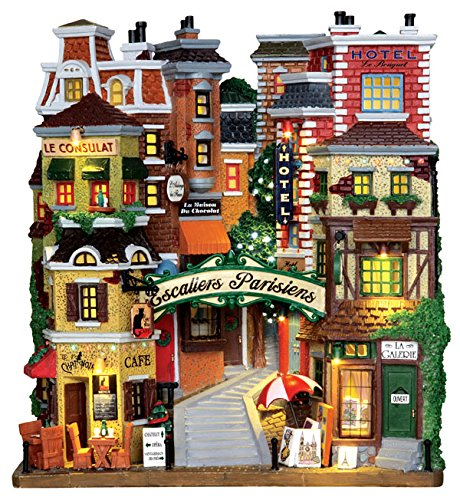 Lemax Village Collection Parisian Stairs Battery Operated # 25402 by LEMAX at The Neighborhood Corner Store