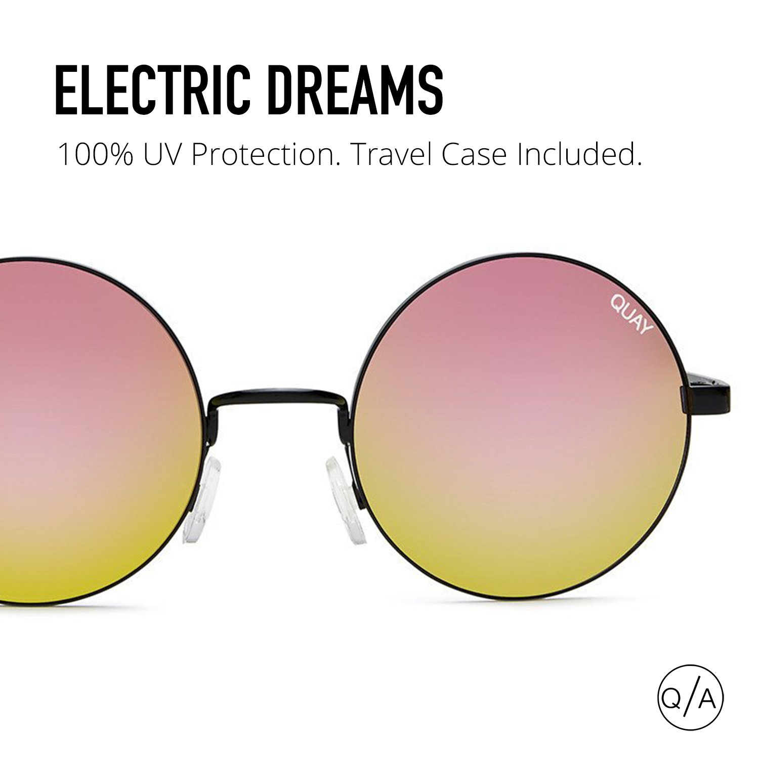 12c7f6d0e1eb Amazon.com: Quay Women's Electric Dreams Sunglasses, Black/Mirror, One  Size: Clothing