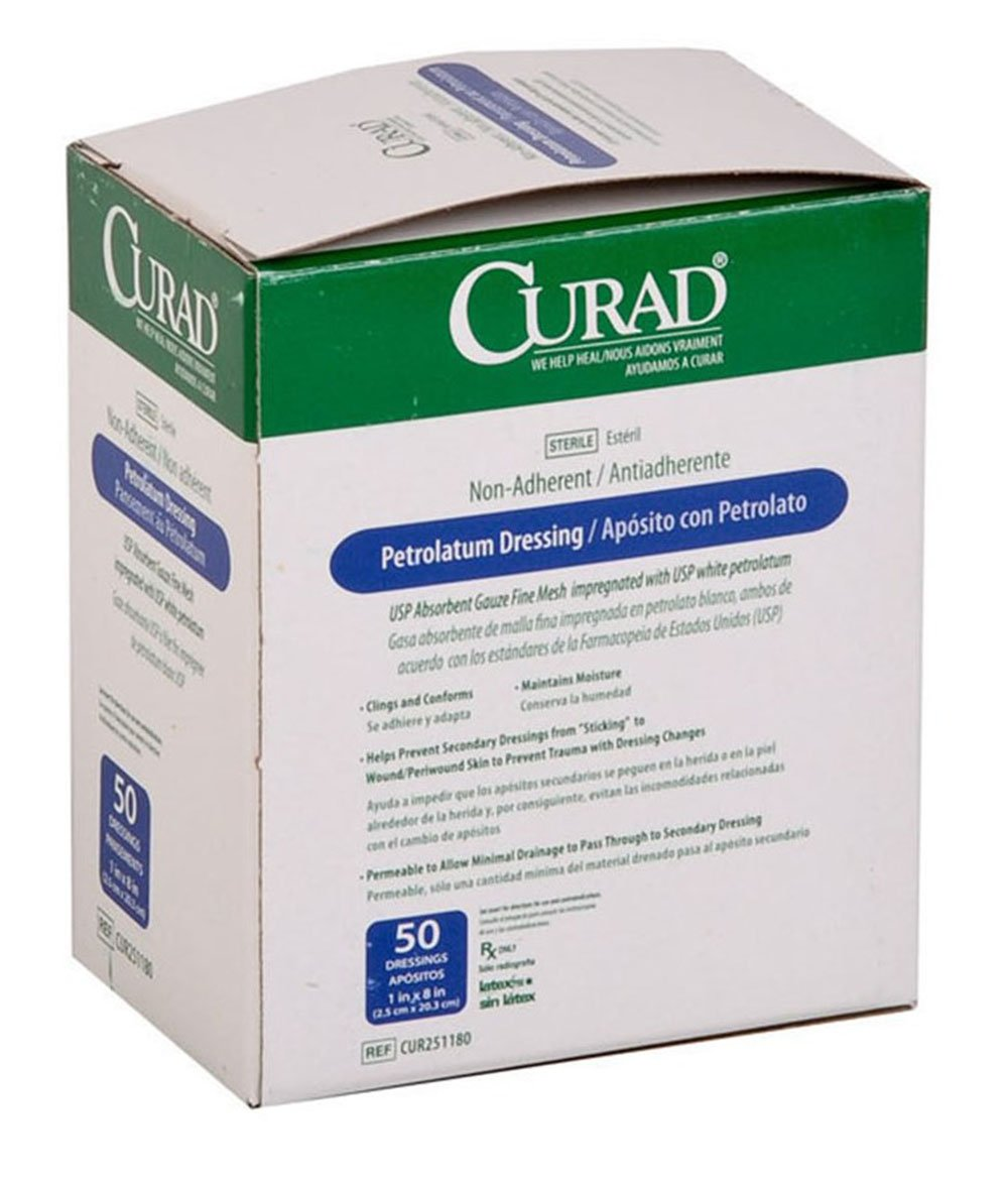 Curad NON25500 Plastic Adhesive Bandages, 3/4'' x 3'', Natural (Pack of 1200)
