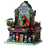 2017 Lemax Halloween Spooky Town Reaper Motorcycle Co. Exterior Lighted Building