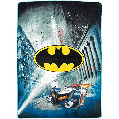 "DC Comics Batman Blanket City Safe Throw Super Soft Plush Microfiber Twin/Full Size 62"" x 90"""