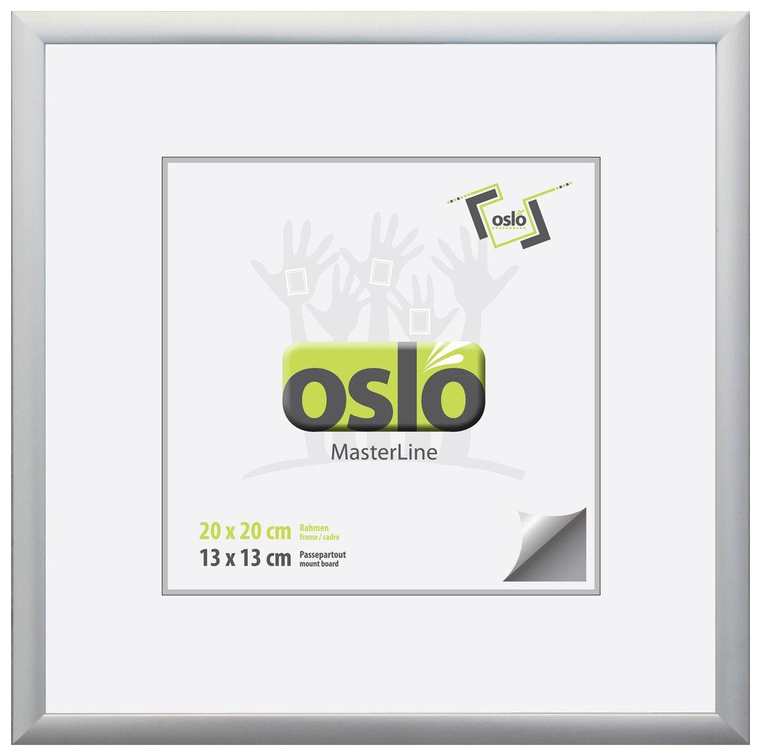 OSLO MasterLine Bilderrahmen 20x20 Silber Matt Aluminium mit ...