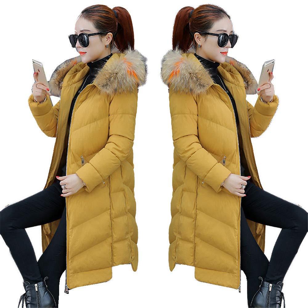Yellow L Shirloy(Down jacket) Winter Fashion Cotton Jacket Female Winter Women'S Down Jacket Long Sleeve Loose Jacket