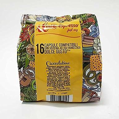 80 cápsulas compatibles Nescafé Dolce Gusto – 5 bolsas de 16 cápsulas Chocolate para cafetera Nescafé Dolce Gusto – Cápsulas dedicadas a máquinas Nescafé Dolce Gusto – El Mio Espresso: Amazon.es: Alimentación y bebidas