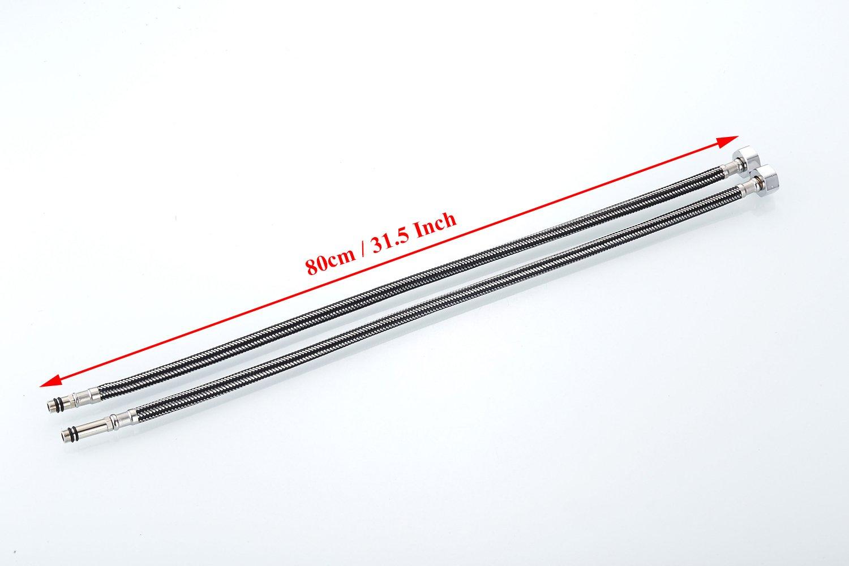 800 MM connettori Flexi tubi rubinetto da cucina//bacino monoblocco YingQ 2 x M10 x//2 BSP