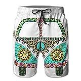 Qpkia Hippie Vintage Car Mini Men Water Sports Beach Pants Pocket