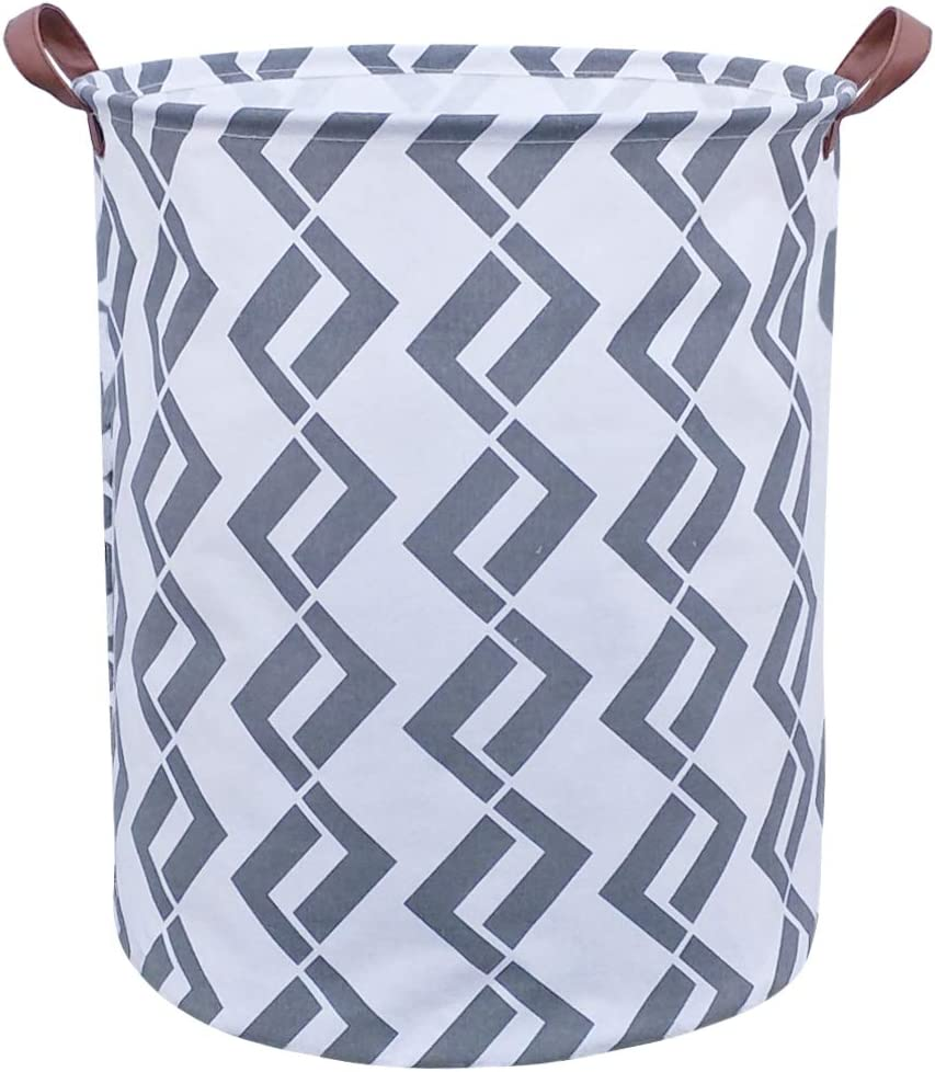 ASKETAM Laundry Basket,Canvas Fabric Laundry Hamper,Dirty Clothes Storage Bin,Collapsible Toy Organizer for Office,Bedroom, Clothes,Toys,Gift Basket(Double Seven)