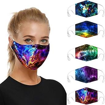 Imagen deMrTom 5PCS de Tela Lavables Reutilizables para Mujer y Hombres, Patrón tie-dye (F/5PC)