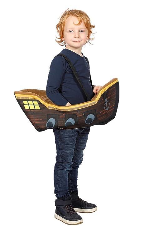 Disfraz pirata en barco niño Única: Amazon.es: Juguetes y juegos