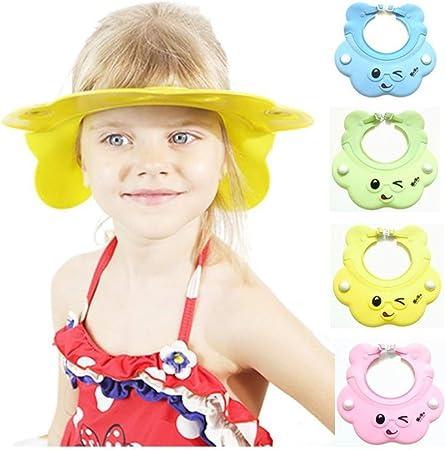 Einstellbare Baby Kinder Shampoo Bade Duschhaube Hut Waschen Haar Schild RA
