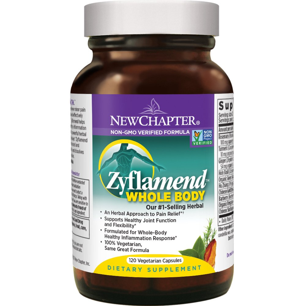 New Chapter Joint Supplement + Herbal Pain Relief - Zyflamend Whole Body for Healthy Inflammation Response - 120 ct by New Chapter