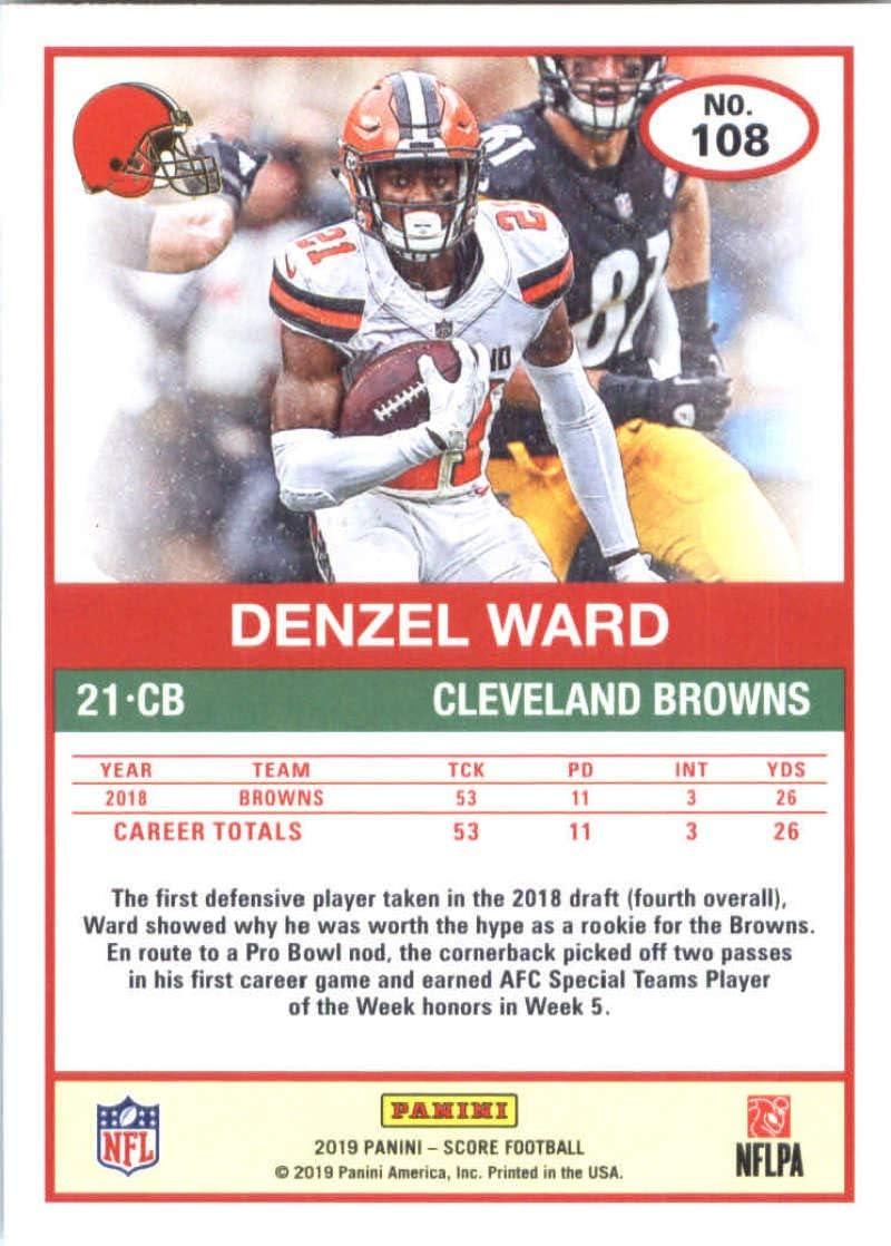 2019 Score #108 Denzel Ward NM-MT Browns