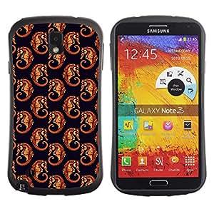 DesignCase Premium TPU / ABS Hybrid Back Case Cover Samsung Galaxy Note 3 III ( cute sea horse )