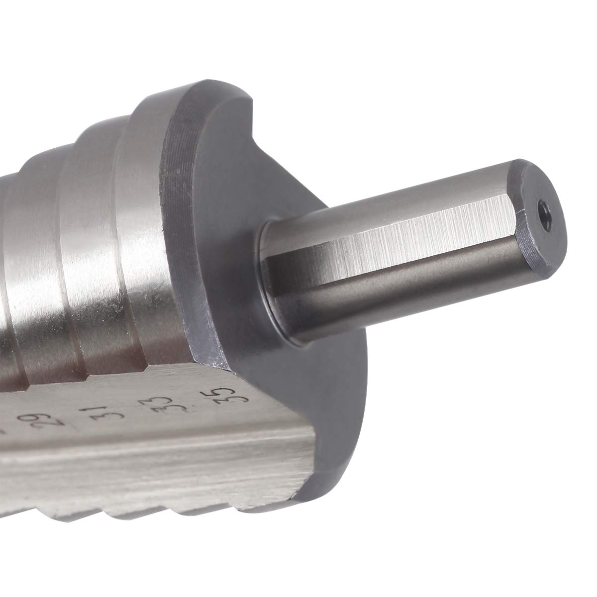 KSEIBI 575055 HSS-M2 10Steps Round Shank Straight Flute Step Drill 1//4-1-3//8inch