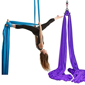 KIKBLW Hamaca giratoria aérea de Yoga, Danza antigravedad de ...