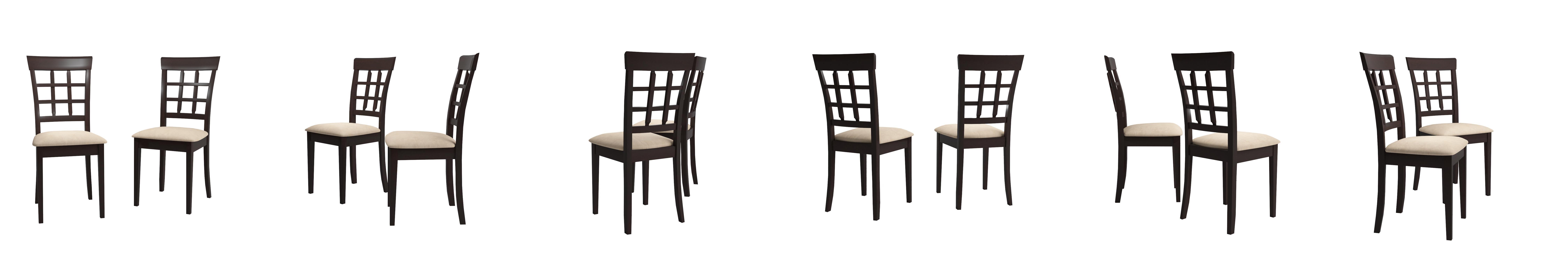 Amazon.com: Coaster Home Furnishings Gabriel Modern Window Back Side Chair  ( Set Of 2 )   Cappuccino / Tan Microfiber: Kitchen U0026 Dining