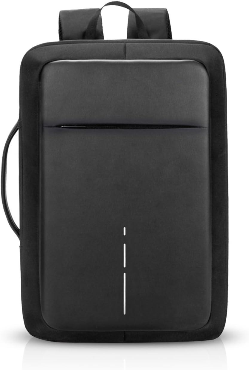 FANDARE 3 en 1 Mochila Hombres Business USB Laptop Bolsa de Mano Commuter Estudiante Outdoor Viaje Bolso de Hombro Impermeable Poliéster Negro