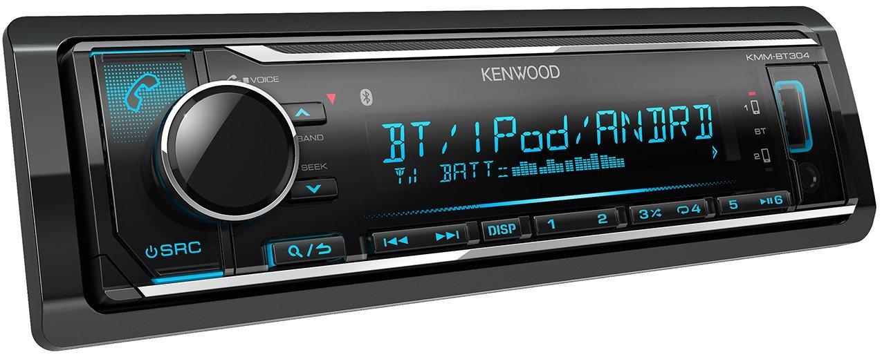 Radio para Coche Kenwood KMM-BT304 Color Negro