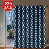 Wide Width Thermal Insulated Blackout Curtain for Patio and Glass Door - Grommet