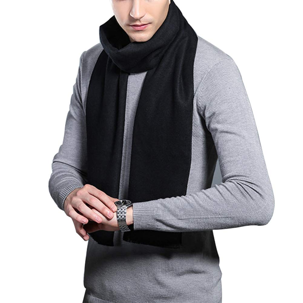 HULANG Mens Cashmere Winter Scarf Plaid Stripes Fashion Long Scarves by HULANG (Image #3)