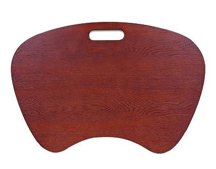 Amazon Com Offex Laptop Lap Desk Cherry Wood Veneer Finish