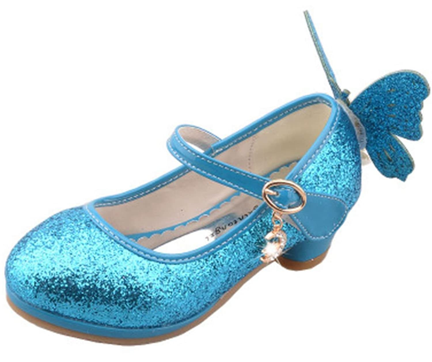 Ychen Girls Kids Children Butterfly Evening Wedding Party Dance Sandals Low  Heel Shoes Mary Jane: Amazon.co.uk: Shoes & Bags