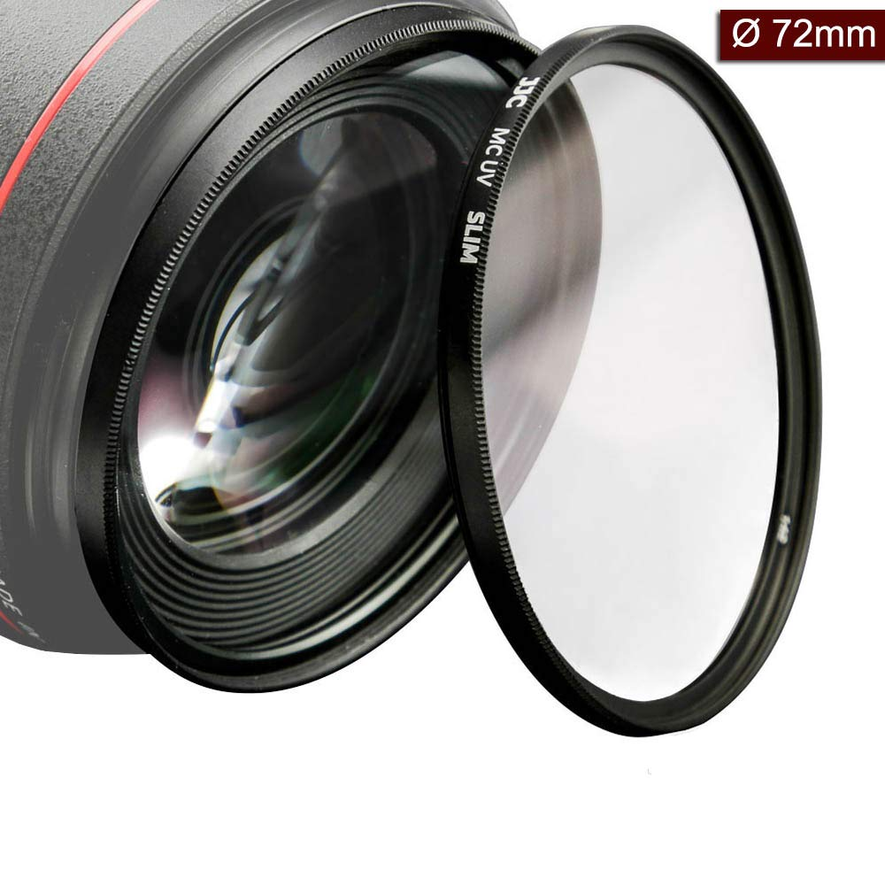 72mm UV Protection Filter Ultra Slim 12 Layers Multi Coated UV Ultra Violet Filter for Canon EF-S 15-85mm f/3.5-5.6 is USM,EF-S 18-200mm f/3.5-5.6 is, 50mm f/1.2L USM Lens Includes Carry Case by WonderFoto