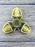 Crusader Fidget Hand Spinner toy for Relieving EDC Desk Focus ADHD ,Relieving Stress, Killing Time, Kids or Adults fingertip Brass Bearing toy High Speed