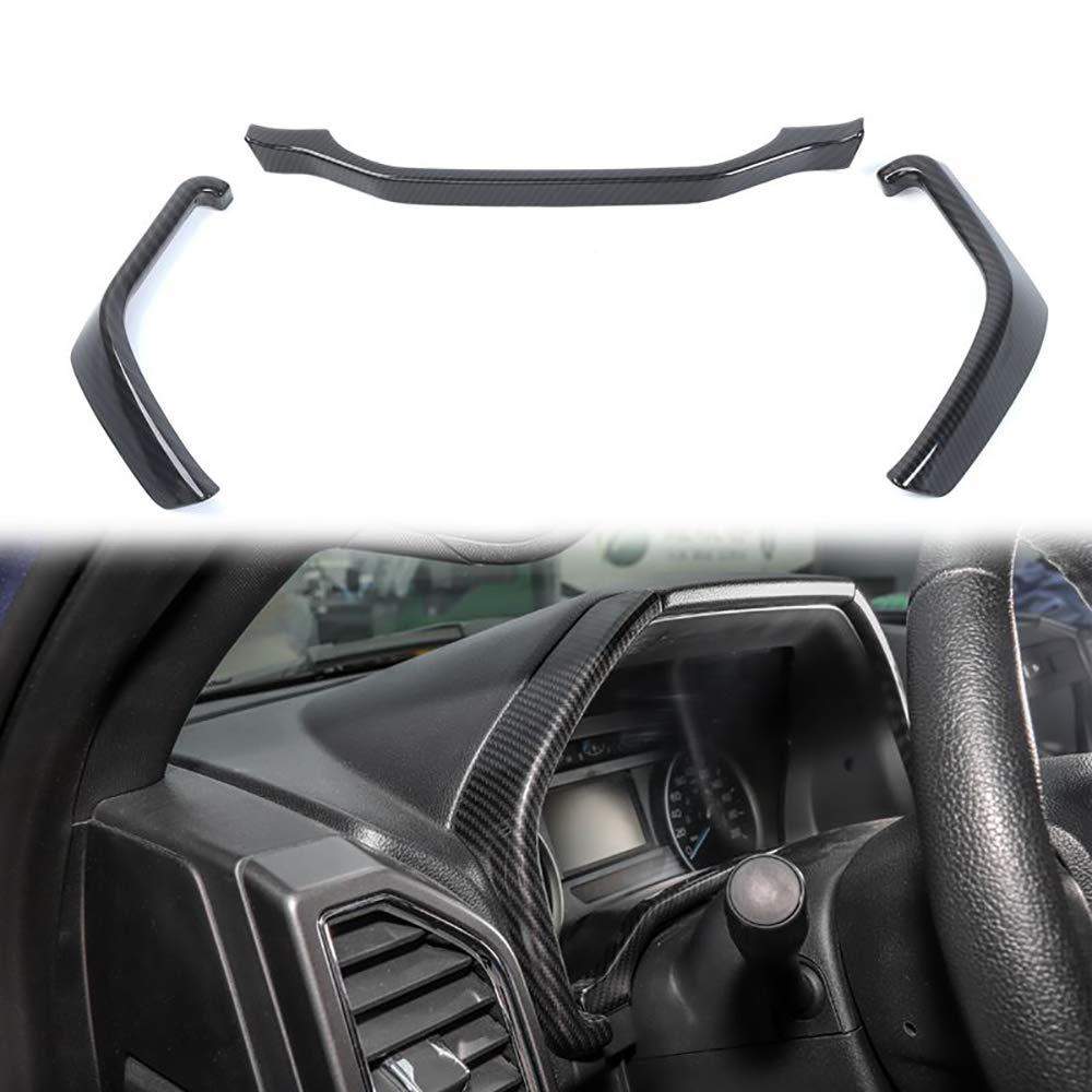 Car Inner Steering Wheel Moulding Bezel Decor Frame Trim Fit For Ford F150 2015+