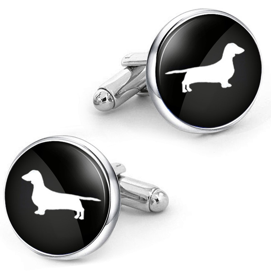 Kooer Pet Dog Dachshund Cufflinks Custom Personalized Cuff Links Vintage Handmade Wedding Cufflinks