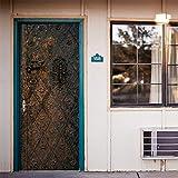 AmazingWall 3D Vintage Metal Door Sticker Art Decal Home Mural Wallpaper Living Room Bedroom Decor 30.3x78.7