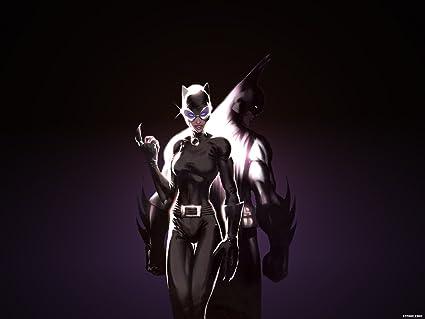 Posterhouzz Comics Catwoman Batman HD Wallpaper Background Fine Art Paper Print Poster ABO1848