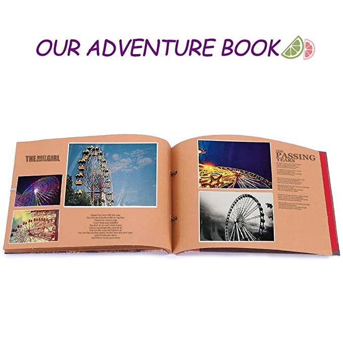 Our Adventure Book Pixar up Handmade DIY Family Scrapbook, Romantic Gift  for Valentine Surprise, Wedding Photo Album, Retro Album, Anniversary