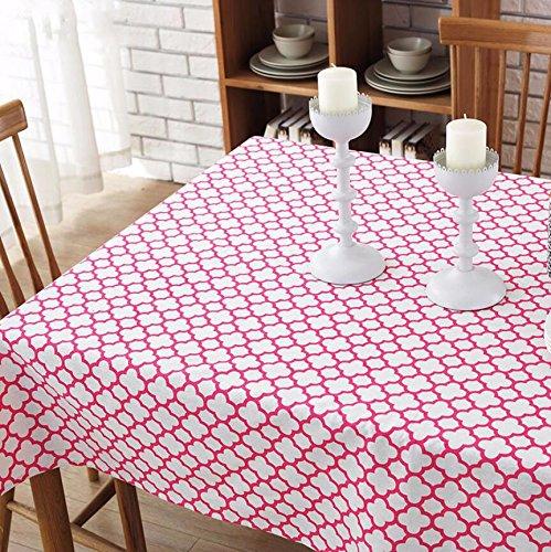 Tabgw Nappe rectangulaire salle à manger drap de coton couverture en tissu Garden Hotel Cafe Restaurant Accessoires pour la maison Style européen stamp rouge 120x120cm