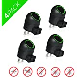 Aspectek Rotatable Ultrasonic Pest Control, Pest Repeller with Side Outlet and Adjustable Night Light - For Rodents, Rat, Mouse, Spider, Mosquito and Insect - Pack of 4