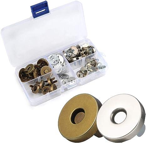 20Pcs Magnetverschluss Verschluss Knopf Für Handtaschen Geldbeutel Mappe 14