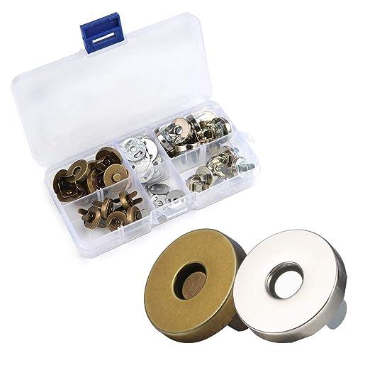 Valeny - Botones magnéticos de broche con 20 cierres rápidos ...