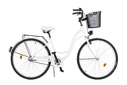 2018 Cómoda Bicicleta de ciudad con una Canasta, Bicicleta, 3 Velocidades,