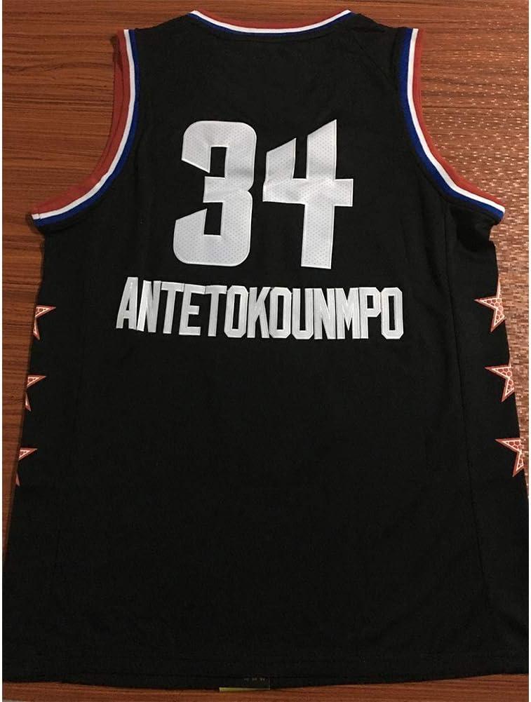 YIXUAN Herren Trikot Jersey Milwaukee Bucks #34 Giannis Antetokounmpo Swingman Basketball Trikot
